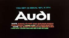 """For Audi A3,A4,A5,A6,A7,A8,TT,S4-8,Quattro  Die Cut Vinyl Decals 12""""L X 3""""H"""