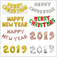 2019 MERRY CHRISTMAS HAPPY NEW YEAR FOIL BALLOON PARTY BANNER BUNTING DECORATION
