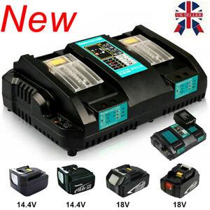 For Makita DC18RD 7.2V-18V Li-ion Dual Port Rapid Battery Charger LXT - UK Plug