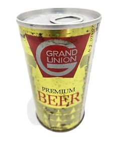 Grand Union Beer Can Pull Tab Bottom Open SHIPS FREE IN THE USA