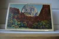 1940 The Great White Throne in Zion National Park Utah Postcard
