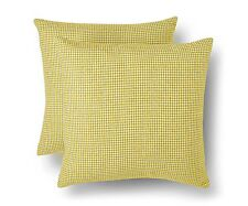 "Threshold 2 Pack Yellow Decorative Houndstooth Toss Pillows 18"" x 18"" - Set of 2"