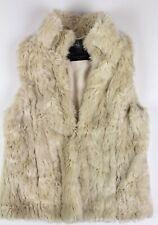 Zara Girls outerwear fur off white vest sz L