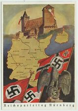 A VERY RARE ORIGINAL WW2 GERMAN UNISSUED POSTCARD REICHSPARTEITAG NURNBERG 1939