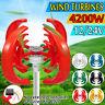 12V/24V 4200W Garten Windgenerator Windrad Vertikale Windkraftanlage