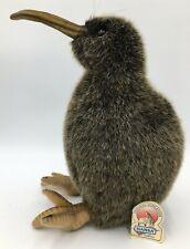 "2000 HANSA Stuffed Animal Plush Realistic KIWI BIRD 10.5"" Adjustable Toe W/ Tags"
