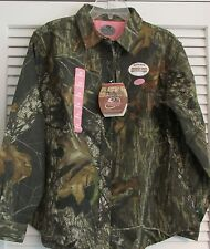 "WOMENS MOSSY OAK CANCER ""PINK"" LOGO HUNTING SHIRT  SMALL  (1)"