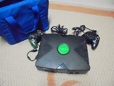 X BOX Microsoft Video Game System 2 Controllers (Carrying Case)            (#2)