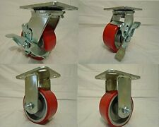 Effective Heavy Duty Polyurethane Wheel on Steel Hub w/ Brake
