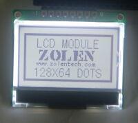 12864 128x64 Dot Matrix Graphic 5v 3v SPI LCD Module Display white Backlight LCM