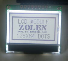 12864 128x64 Dot Matrix Graphic 5v 3v SPI LCD Module Display white Backlight LCM