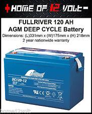 4wd 4x4 battery FullRiver 120 AH AGM VRSLA Deep cycle Caravan camper DC120-12B