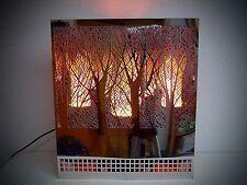 Colonne à flamme cheminée électrique éclairage inox 30cm Firebox edelstahl444