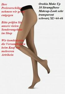 Oroblu Make Up 10 Strumpfhose Makeup-Look sehr transparent schwarz XL=44-46