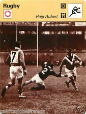 FICHE CARD :  Puig-Aubert (Pipette)  FRANCE  international   RUGBY 70s