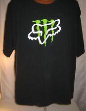Fox Racing Monster Energy Mens Black Plus Size Tshirt 3XL