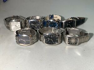 7X MENS KENNETH COLE GUESS FOSSIL METAL LEATHER WATCHES RUNNING