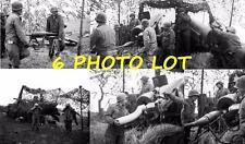 6 1944 WW2 US 1st Army Howitzer Artillery Siegfried Line WWII Photo Lot FL208