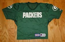 Green Bay Packers Cropped Vintage Practice Jersey Size L Champion Pro Line