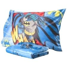 New Dc Comics Super Hero Batman Wham Micro Mink Twin Sheet & Pillowcase 2 Pc Set