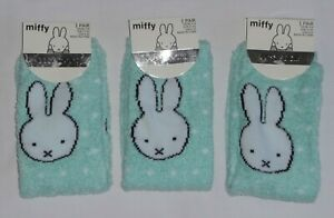 3 Pairs Of Ladies Primark Miffy Cosy Soft Feel Slipper Socks Shoe Size 4-8