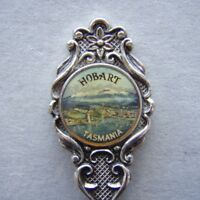 Hobart Tasmania Siverplated Cameo Souvenir Spoon Teaspoon (T93)