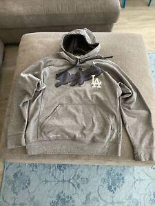 Nike Men's Therma-Fit Dodgers Gray Sweater Hoodie Long Sleeve Medium Nice