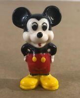 "Genuine Vintage Disney Small 2"" Mickey Mouse Glass Ceramic Figurine G29"