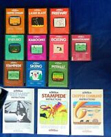 Atari 2600 Game Cartridge Lot Of 13 All Activision Kaboom! Skiing Boxing Manuals
