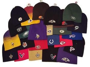 NFL Team Beanie Knit Cap Cuffless Hat - Pick NFL Team