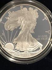 2010 AMERICAN EAGLE PROOF SILVER BULLION COIN 1 OZ W/ BOX & COA