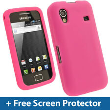 Pink Silicone Skin Case for Samsung Galaxy Ace S5830 Android Cover Holder