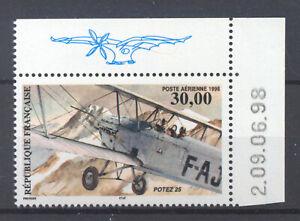 FRANCE Poste aérienne  COIN de FEUILLE DATE: 9/6/98, PA 62a neuf xx LUXE.