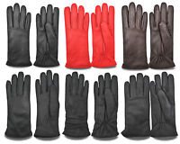 WOMEN'S LEATHER WINTER DRIVING GLOVES CHAUFFEUR CAR BIKE RETRO STYLE CLASSIC