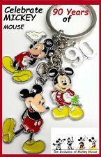 Disney Mickey Mouse 90th Anniversary Charm Metal Pendant KEYCHAIN Keyring NEW