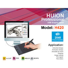 "Huion H420 4"" x 2.3"" USB Drawing Writing Art Graphics Board Tablet + Digital Pen"