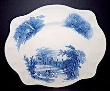 "Johnson Brothers Blue HADDON HALL Platter Blue White 12"" England"