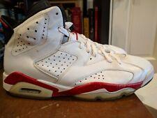 2010 Air Jordan 6 Retro White & Red Infrared 384664-103 Size 12 Mens