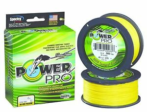 Power Pro Spectra Braid, 300 Yd. Hi-Vis Yellow, New, Choice of Line Strength