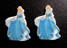 2 x Disney Princess Cinderella Planar Flatback Resin Flat Back Hair Resins