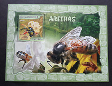 Mozambique Honey Bees 2007 Flower Flora Insect (miniature sheet) MNH