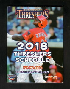 Clearwater Threshers--2018 Pocket Schedule--Lucky Dill Deli--Phillies Affiliate