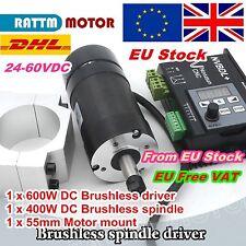 【EU】 CNC 400W 60V DC Brushless Spindle Motor ER8&600W Driver NVBDL+ &55mm Clamp