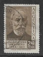 ARGENTINE POSTAL ISSUE - USED 2.40peso COMMEMORATIVE 1956 - FLORENTINO ARMEGHINO