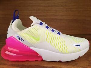 Nike Air Max 270 Sneakers DH0252-100 White/Pink Blast/Volt Women's Size 10