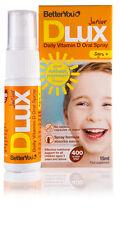 BetterYou DLux Junior 400 - Daily 400iu Vitamin D Oral Spray - 15ml