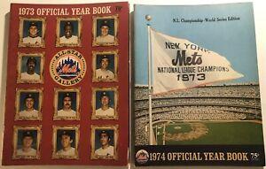 1973 1974 NEW YORK METS Yearbook Lot TOM SEAVER Willie MAYS YOGI Cleon McGRAW