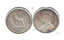 1936 Southern Rhodesia Silver 2 Shillings in Brillaint Uncirculated w Toning ~