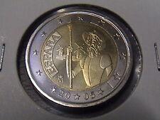 2 EURO COMMEMORATIVO SPAGNA 2005 DON CHISCIOTTE