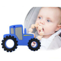 Silicone Car Beads Teether DIY Baby Nursing Teething Pendant Making BPA Free HS